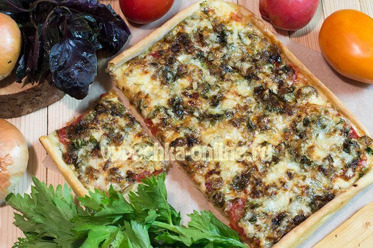 пицца с рыбой рецепт в домашних условиях
