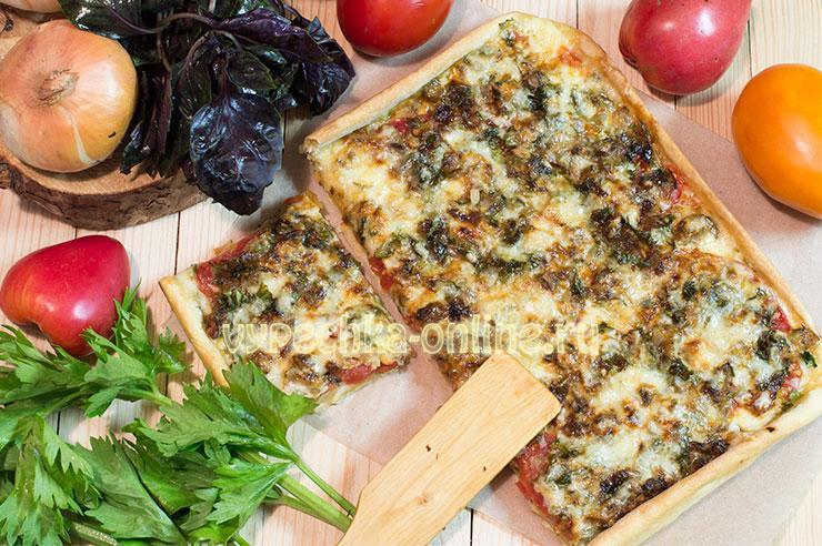 пицца с рыбой рецепт в домашних условиях в духовке