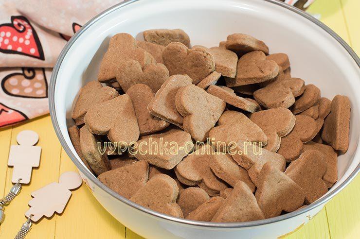 Печенье с какао порошком