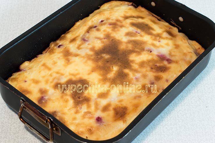 творожная запеканка с малиной в духовке пошаговый рецепт с фото 4-34