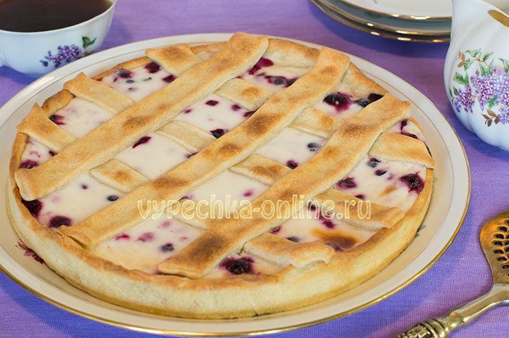 пирог со смородиной рецепт с фото быстро и вкусно