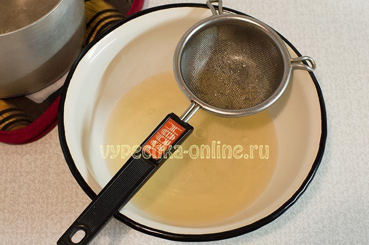 Десерт из ряженки и желатина