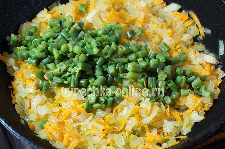 Рецепт омлета с овощами в духовке