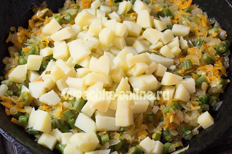 Омлет с овощами в духовке рецепт