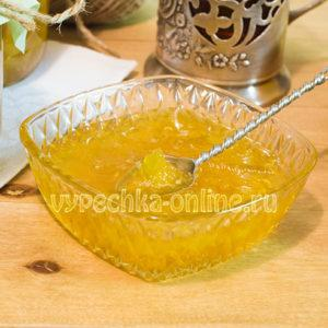 Кабачковое варенье с лимоном