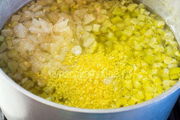 Кабачки с лимоном варенье на зиму