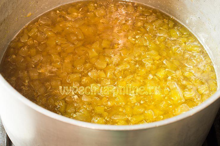 Как приготовить варенье из кабачков с лимоном