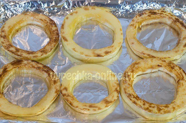 кабачки кольцами в духовке
