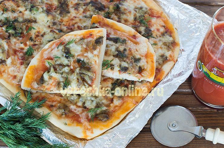 рецепт пиццы с грибами в домашних условиях в духовке