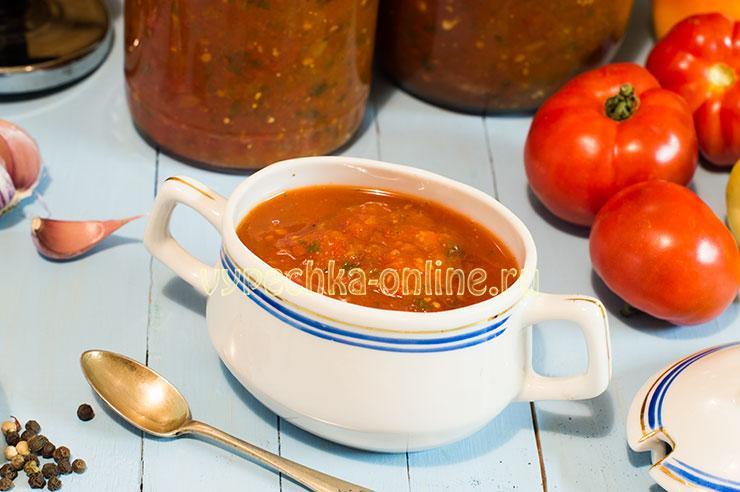 Сацебели из помидоров на зиму