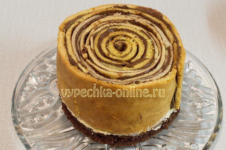 Необычное оформление торта