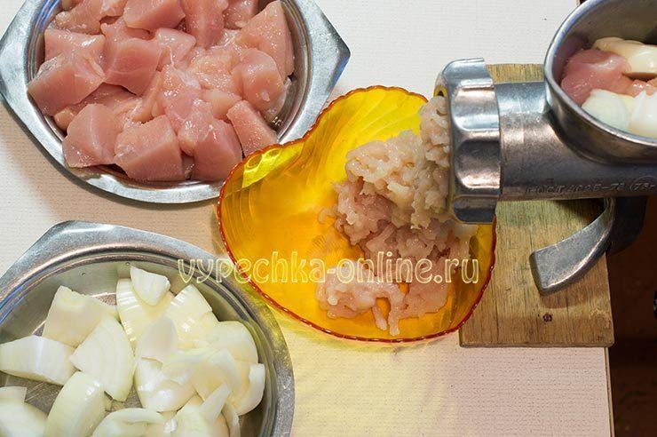фарш для пельменей из свинины и курицы