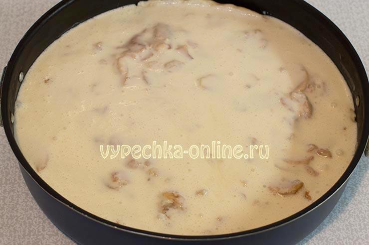 Пирог на сметане с яблоками рецепт с фото простой и вкусный