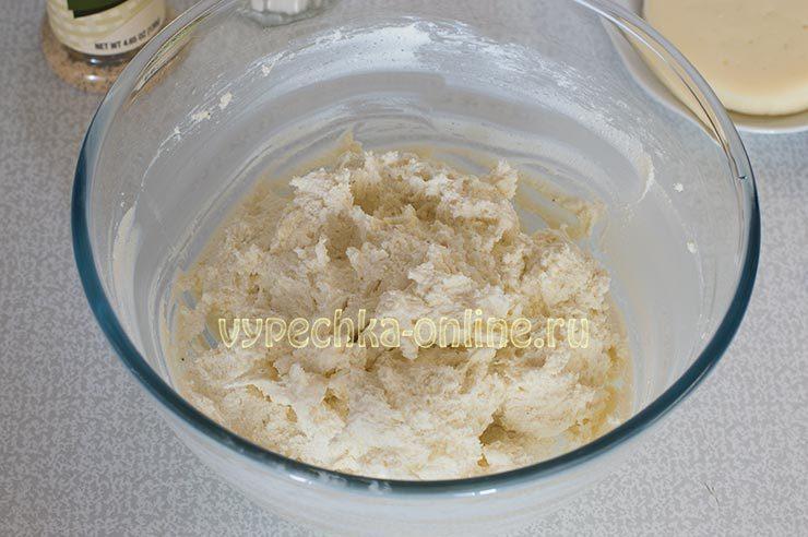 Сырное творожное печенье