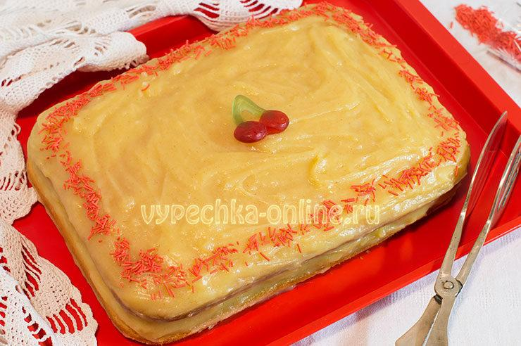 Торт с лимонным курдом