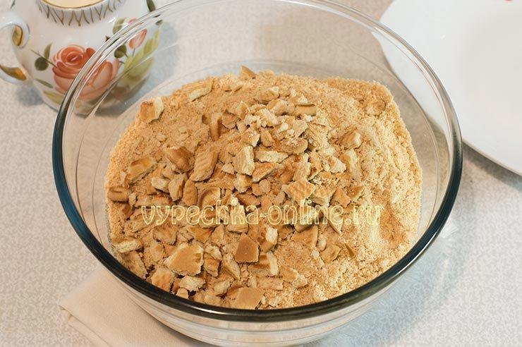 Как сделать сладкую колбаску из печенья