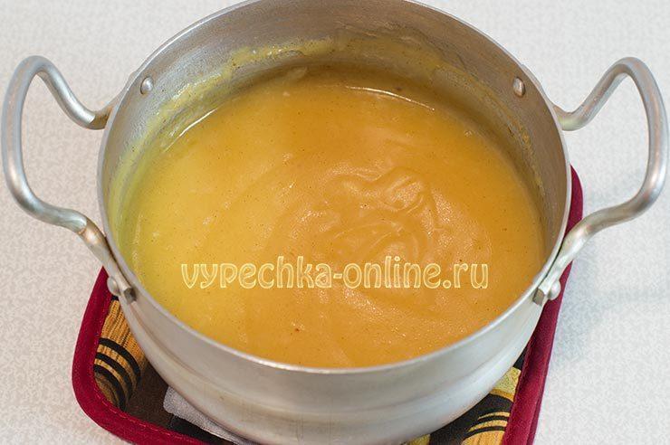 Заварной лимонный крем для торта