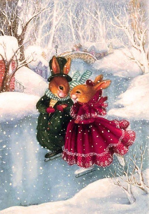 Кролики на коньках
