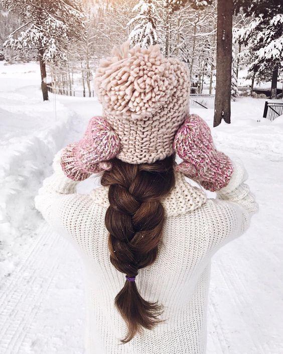 Зимняя аватарка для девушки без лица