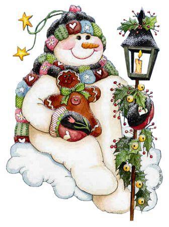Снеговик с пряничным человечком