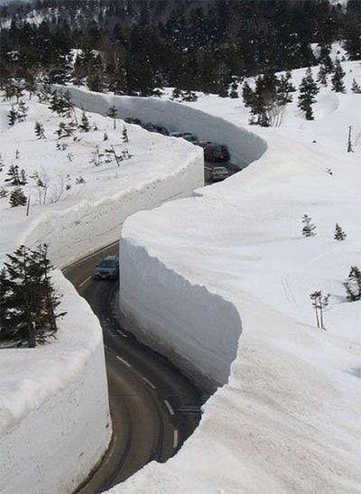 Зимняя дорога для автомобилей