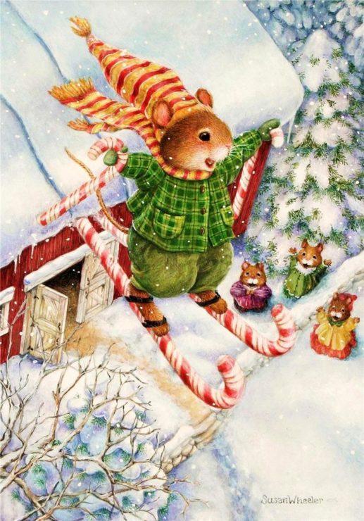 Кролик на лыжах