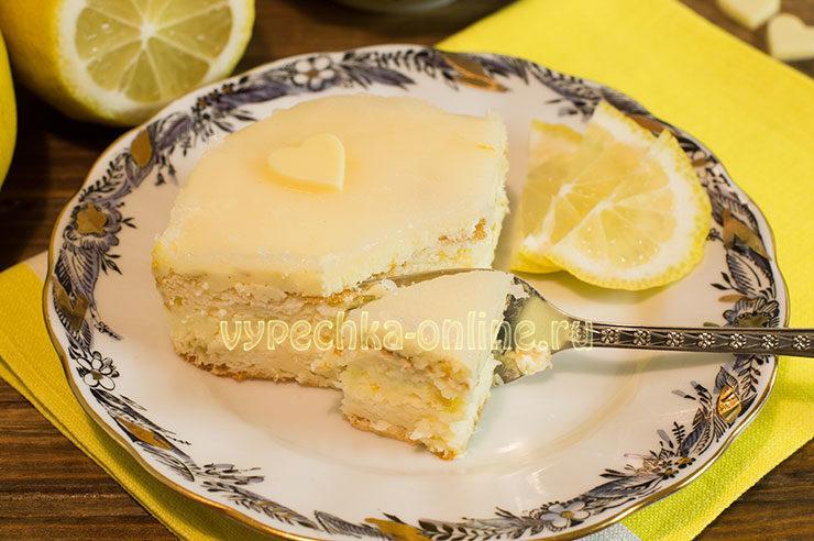 Лимонный торт Магнолия