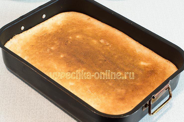 Лимонный бисквит в духовке
