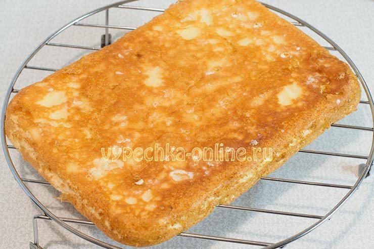 Бисквит с лимоном и цедрой