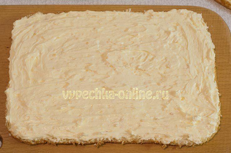 Сборка торта с лимоном