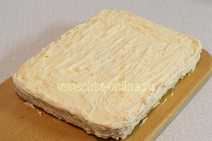 Лимонный бисквит с кремом
