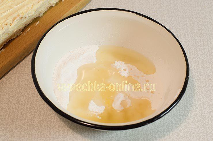 Сахарная пудра, лимонный сок, горячая вода