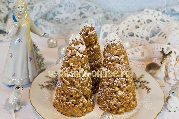 Новогодняя выпечка пирожные ёлочки