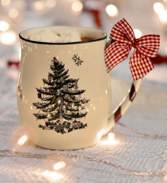Зимняя чашка с ёлочкой