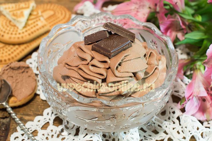 Шоколадно-творожный крем