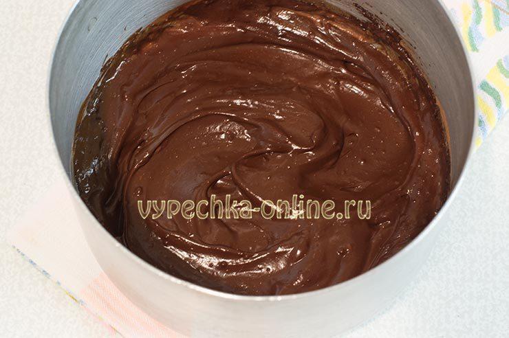 Шоколадно-творожный крем для торта