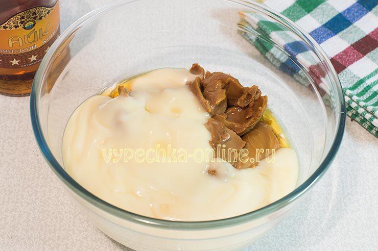 Масло, сгущёнка, варёная сгущёнка
