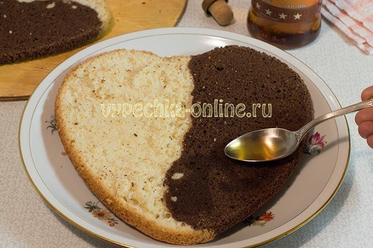 Пропитка бисквита коньяком