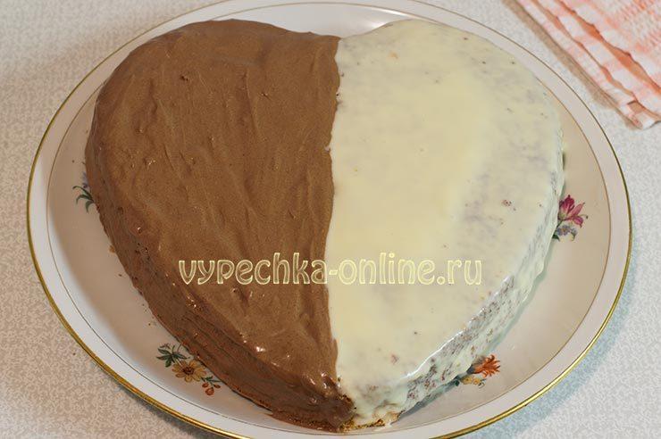 Оформление торта на день влюблённых