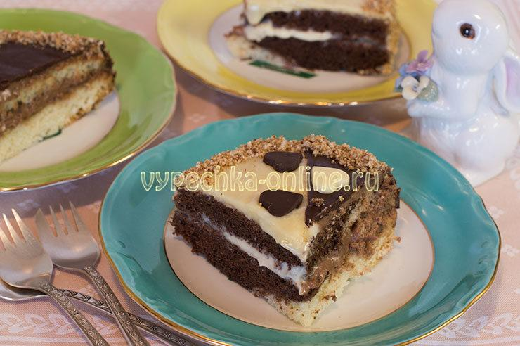Торт День и ночь рецепт с фото пошагово в домашних условиях