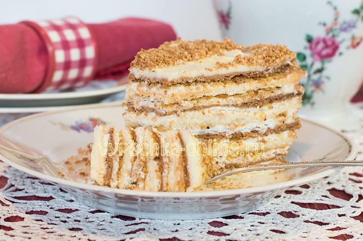 Рецепт торта Мишка на севере в домашних условиях с фото пошагово