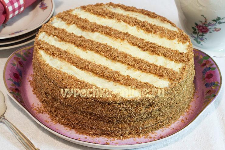 Торт Мишка на севере рецепт с фото пошагово в домашних условиях