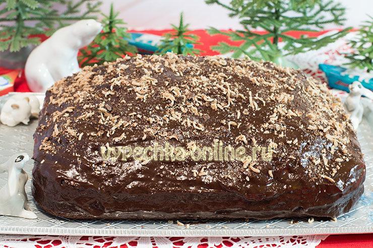 Торт Прага домашний нежный