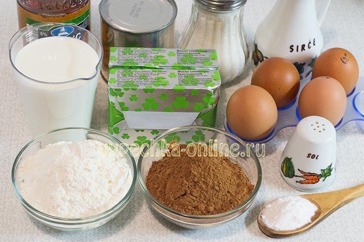 Ингредиенты для торт Прага