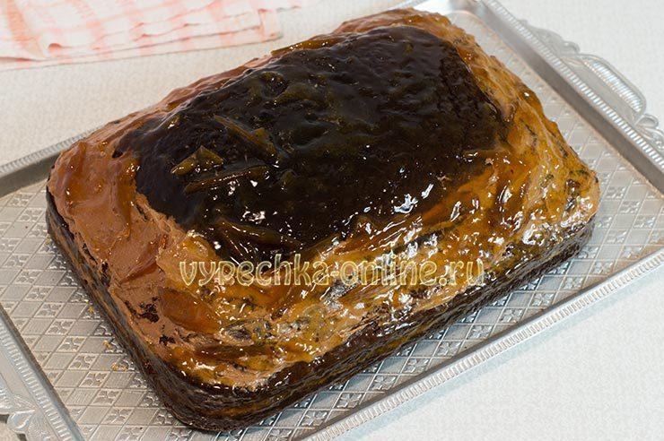 Торт Прага с джемом