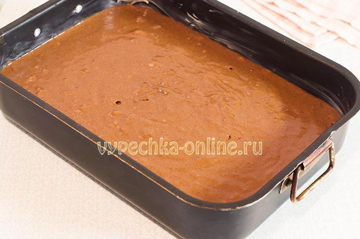 Бисквитное тесто шоколадное