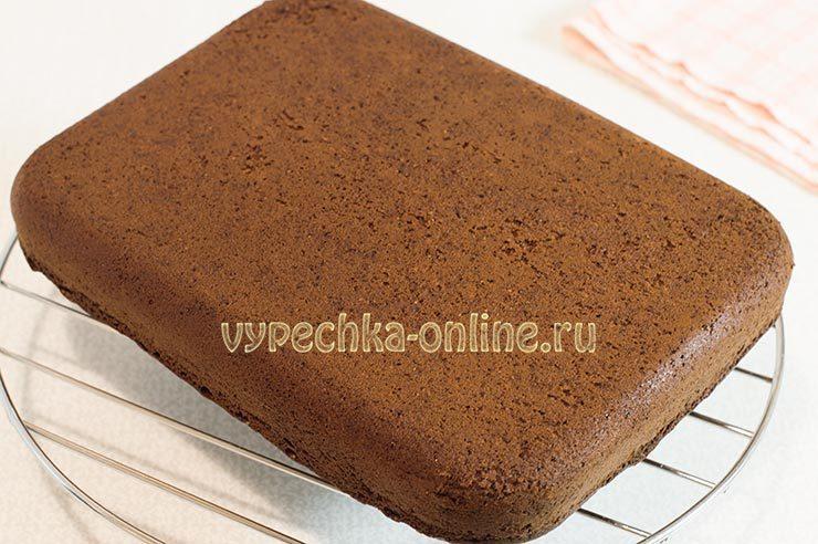 Шоколадный бисквит Сникерс
