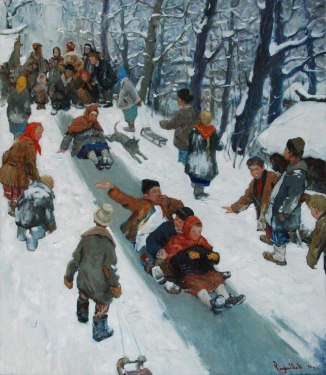 Русские горки зимой