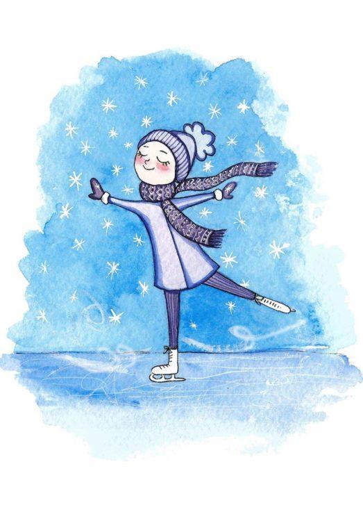 Девочка на коньках картинка