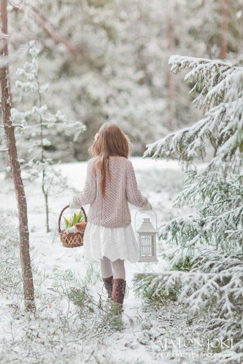 Зима, девочка